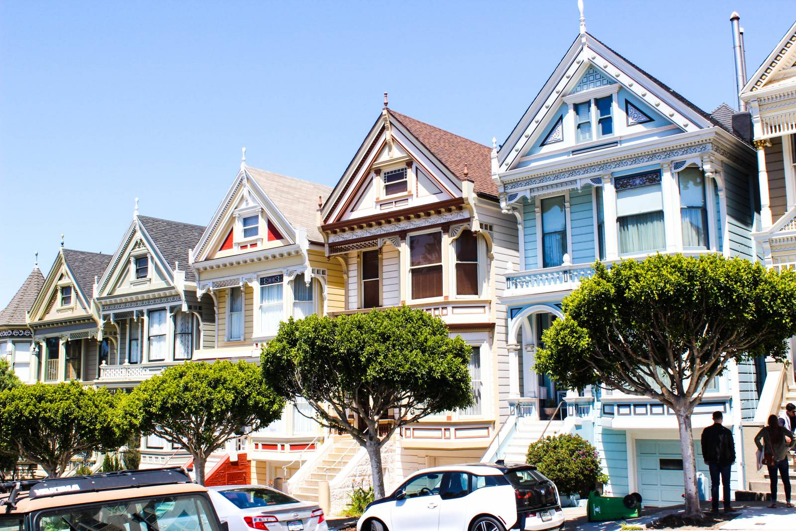 san francisco buena vista caf cable cars and painted ladies. Black Bedroom Furniture Sets. Home Design Ideas