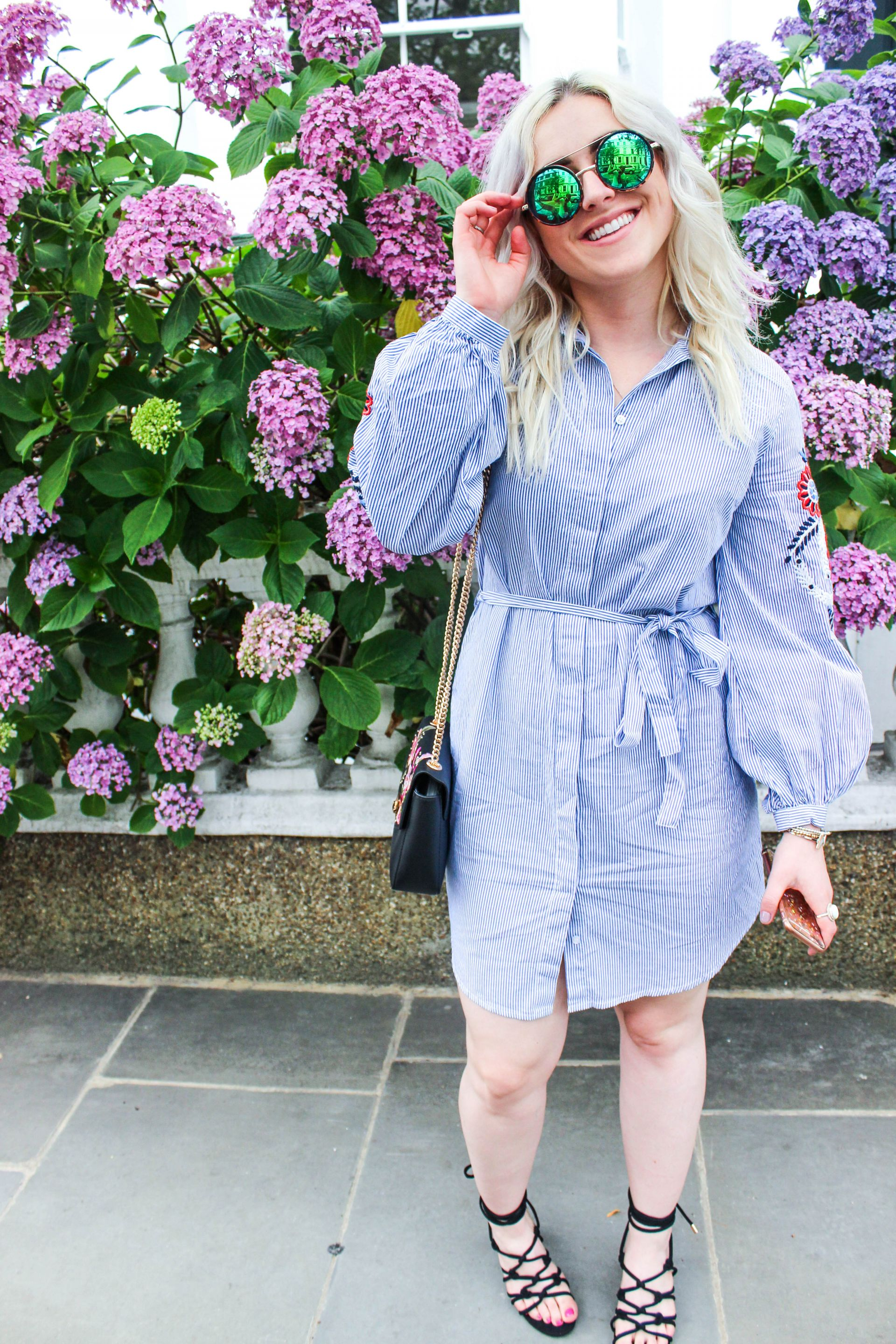 new look embroidery shirt dress