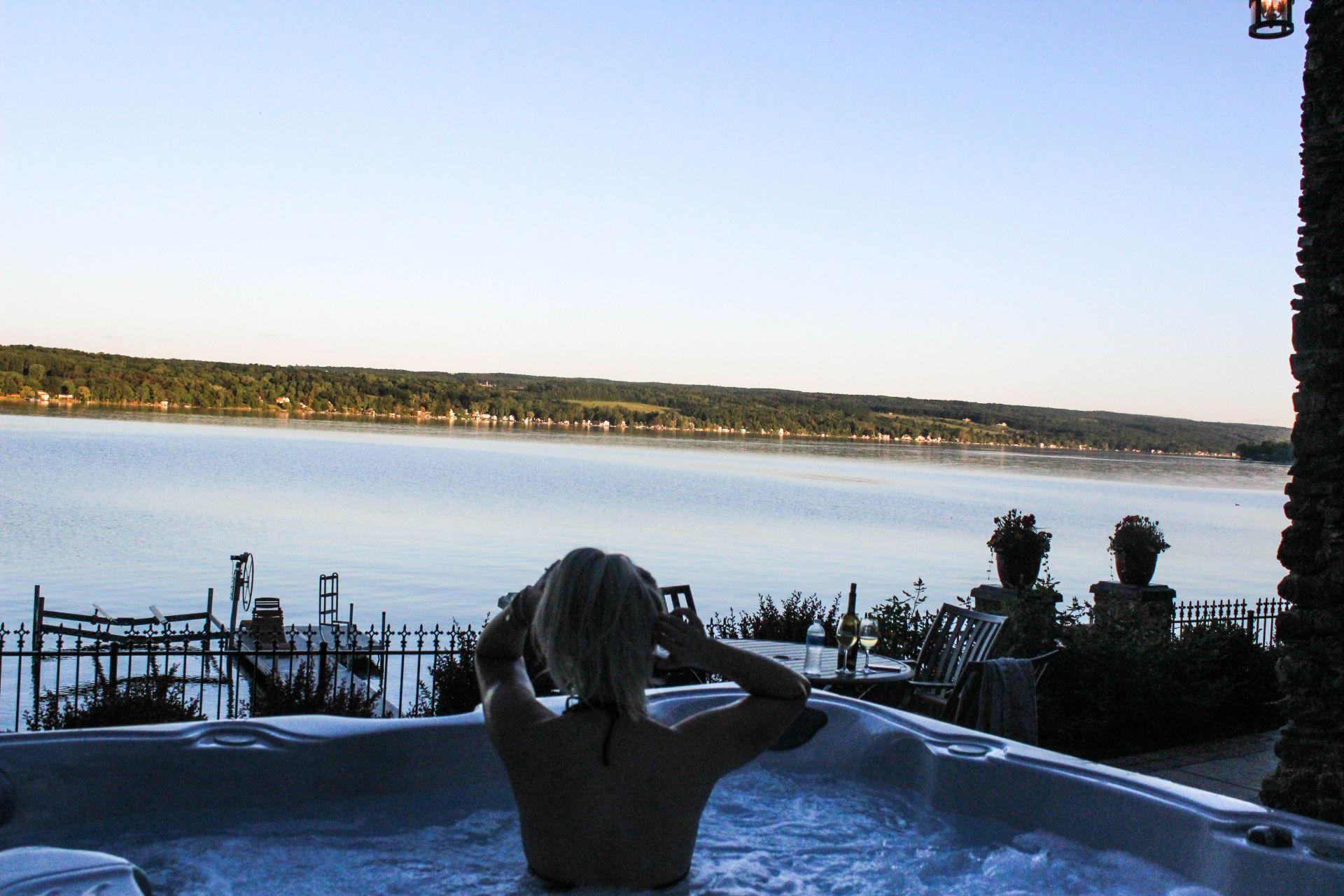 the steamboat castle, finger lakes, new york