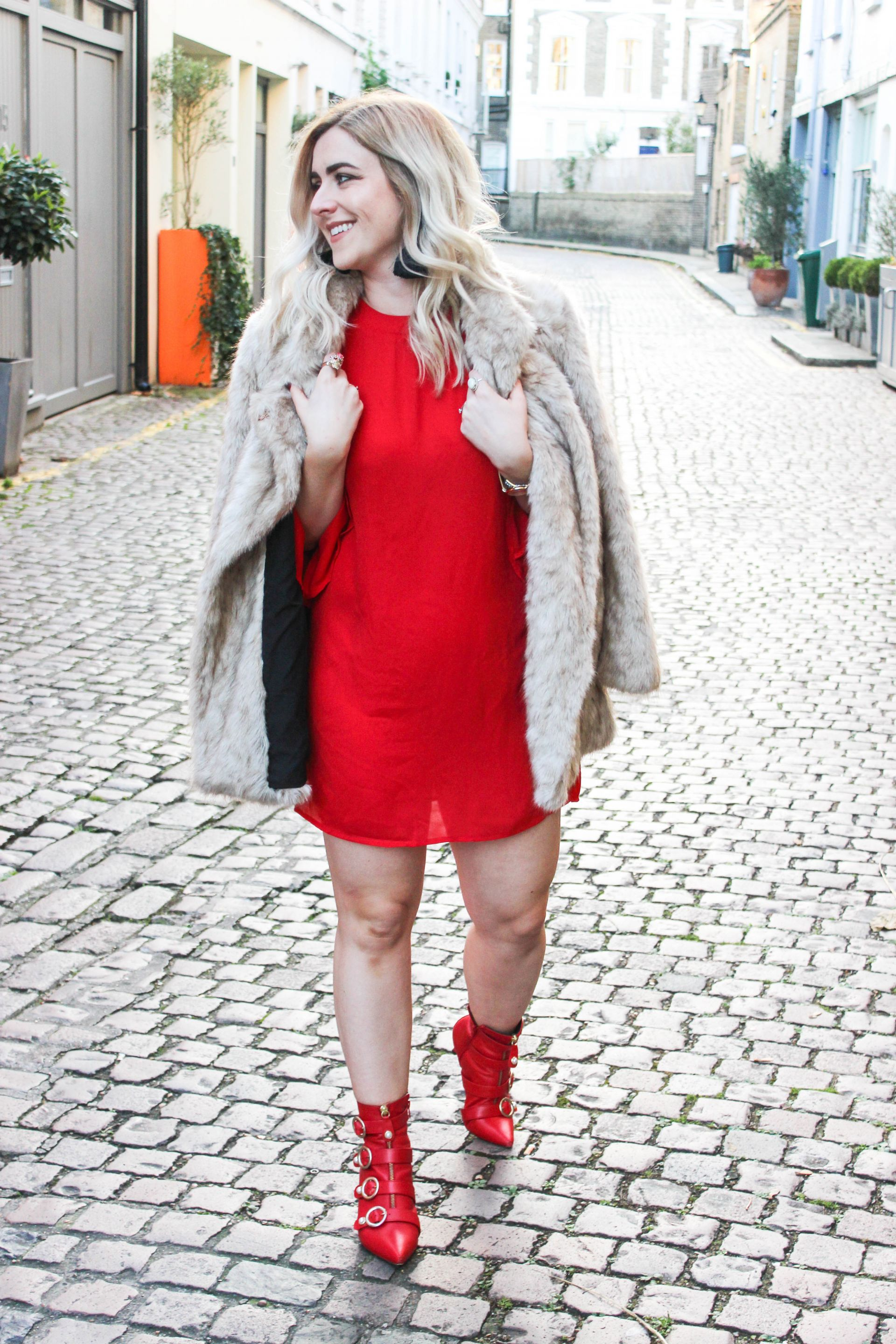 boohoo red dress of the month